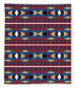Aztec Blue Pattern Fleece Blanket
