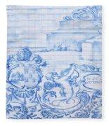 Azulejos Traditional Tiles In Porto Portugal Fleece Blanket
