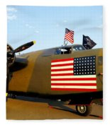 B-24 Bomber - Diamond Lil Fleece Blanket
