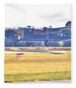 B-24 Landing Fleece Blanket