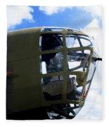 B-24 Nose Gun Fleece Blanket