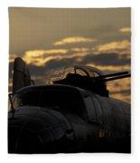 B-25 Sunset Fleece Blanket