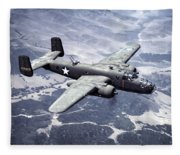 B-25 World War II Era Bomber - 1942 Fleece Blanket