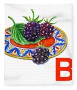 B Art Alphabet For Kids Room Fleece Blanket