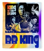 B. B. King Poster Art Fleece Blanket