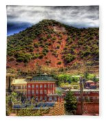 B Hill Over Historic Bisbee Fleece Blanket