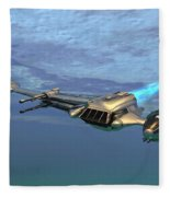 B Wing Aircraft Fleece Blanket