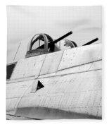 B17 Bomber Top Turret Guns Fleece Blanket