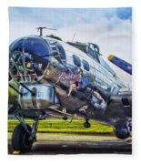 B17 Bomber Yankee Lady Fleece Blanket