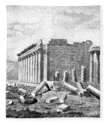 Baalbek Aka Heliopolis, 1845 Fleece Blanket