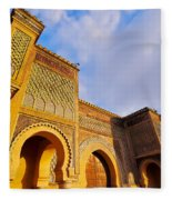 Bab Mansour In Meknes In Morocco Fleece Blanket