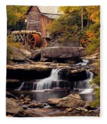 Babcock Grist Mill And Falls Fleece Blanket