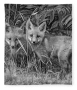 Babes In The Woods 2 - Paint Bw Fleece Blanket