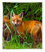 Babes In The Woods Oil Fleece Blanket