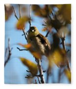 Baby American Goldfinch Learning To Fly Fleece Blanket