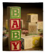 Baby Blocks Fleece Blanket