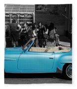 Baby Blue Benz Fleece Blanket