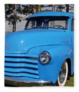 Baby Blue Chevy From 1950 Fleece Blanket