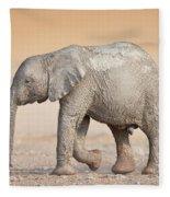 Baby Elephant  Fleece Blanket by Johan Swanepoel