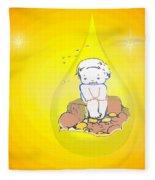 Baby In Teardrop 2 Fleece Blanket