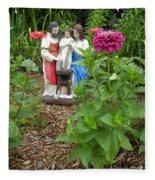 Baby Jesus In Garden Fleece Blanket