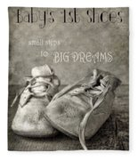 Baby's First Shoes Fleece Blanket