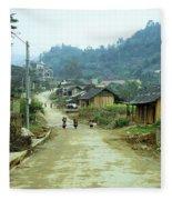 Bac Ha Town Fleece Blanket