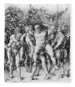 Bacchanal With Silenus - Albrecht Durer Fleece Blanket