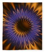 Bachelor Button Mandala Fleece Blanket