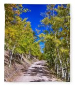 Back Country Road Take Me Home Colorado Fleece Blanket