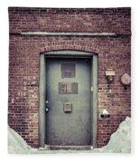 Back Door Alley Way Fleece Blanket