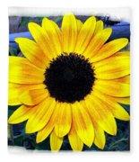 Back Forty Sunflower Fleece Blanket