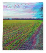 Back Forty - Use Red/cyan Filtered 3d Glasses Fleece Blanket