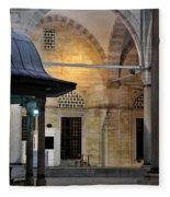 Back Lit Interior Of Mosque  Fleece Blanket