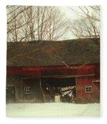 Back Road Barn Fleece Blanket