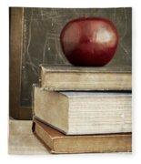 Back To School Apple For Teacher Fleece Blanket
