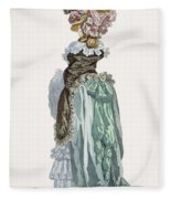 Back View Of A Promenade Gown, Engraved Fleece Blanket