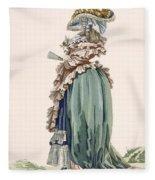 Back View Of Ladys Dress, Engraved Fleece Blanket