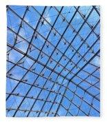 Backbend In The Louvre Fleece Blanket