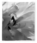 Backlit Black And White Tulip Fleece Blanket