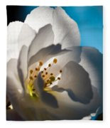 Backlit Cherry Blossom Fleece Blanket