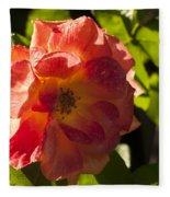 Backlit  Rose Fleece Blanket