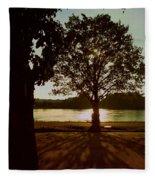 Backlit Tree Fleece Blanket