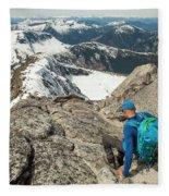 Backpacker Descending Needle Peak Fleece Blanket