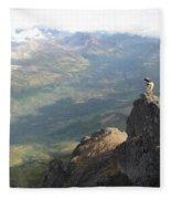 Backpackers Hike In Chugach State Park Fleece Blanket