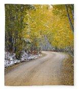 Backroads Of Autumn Fleece Blanket