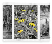 Backwoods Escape Triptych Fleece Blanket