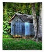 Backyard Barn Fleece Blanket
