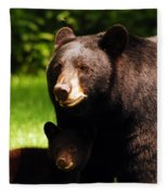 Backyard Bears Fleece Blanket