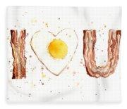 Bacon And Egg I Love You Fleece Blanket